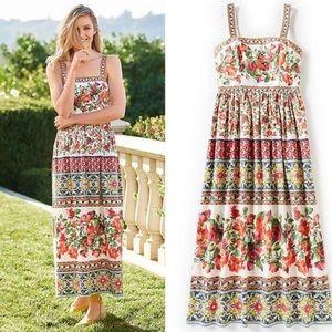 Antonio Melani Natasha Tile Print Boho Dress